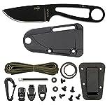 ESEE Black Izula w/ Survival Kit & Sheath