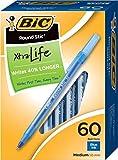BIC Round Stic Xtra Life Ball Pen, Medium Point (1.0 mm), Blue, 60-Count