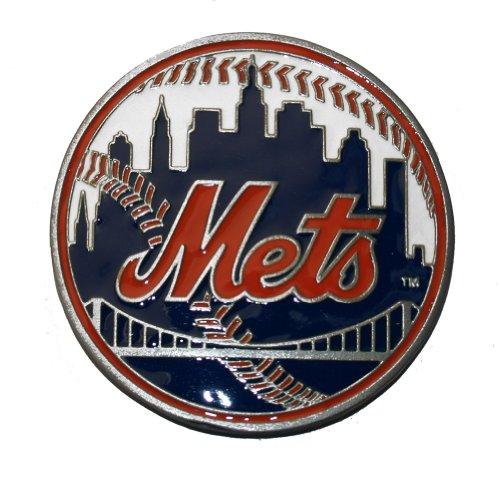 MLB New York Mets Belt Buckle, Silver
