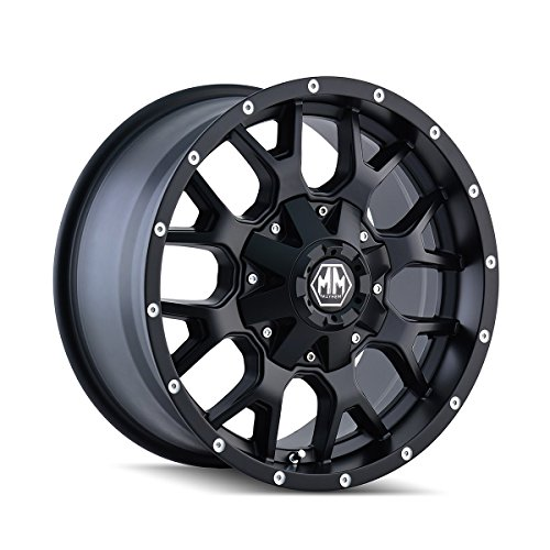 Mayhem Warrior 18 Black Wheel / Rim 5x5.5 & 7x150 with a 18mm Offset and a 87 Hub Bore. Partnumber 8015-8963MB18 (99 Dodge Ram Rims compare prices)