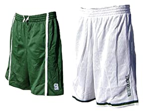Michigan State Spartans Green White Nike FIT Dry 12? Inseam College Reversible Mesh... by Nike