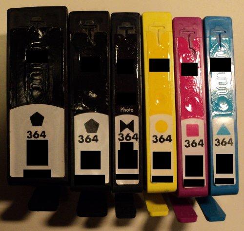 4x Druckerpatrone 364 Refill für HP Drucker mit Chip *SD534EE*XL*CN684EE*XL*CB325EE*XL*CB324EE*XL*CB323EE*CB316EE*CB320EE*CB319EE*CB318EE* Deskjet 3070A e-All-in-One 3520 e-All-in-One 3522 e-All-in-One Officejet 4610 4620 e-All-in-One 4622 e-All-in-One Photosmart 5510 e-All-in-One 5514 e-All-in-One 5515 e-All-in-One 5520 e-All-in-One 6510 e-All-in-One 6520 e-All-in-One 7510 e-All-in-One 7520 e-All-in-One B010a B010b B210 B210a B210b B210c B210e B410a B410c C309g C310a C410a C410b C410c C410d