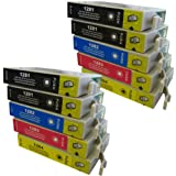 10 CiberDirect Compatible Ink Cartridges for use with Epson Stylus SX130 Printers.