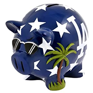 MLB Los Angeles Dodgers Resin Large Thematic Piggy Bank by Forever Collectibles