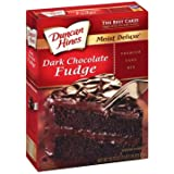 Duncan Hines Dark Chocolate Fudge Cake Mix 18.25oz (Pack of 2)