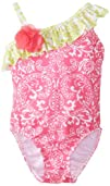 Flap Happy Baby-Girls Infant Upf 50 Asymmetrical Swimsuit