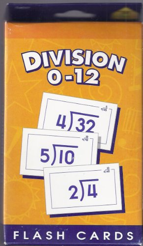 School Zone Publishing SZP04017 Division 0-12 Flash Cards - 1
