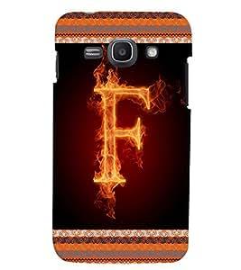 Fuson 3D Printed Alphabet F Designer back case cover for Samsung Galaxy Ace 3 - D4195