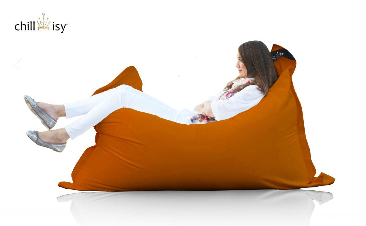 chillisy© Sitzsack, Loungekissen SUMMERTIME MAXI fuer Indoor & Outdoor, orange (190 x 130 cm) günstig kaufen