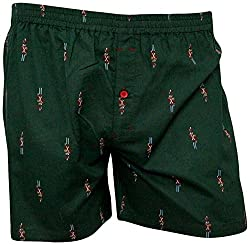 Shy Guy Pleasure Wear Men's Cotton Boxer Shorts (Green)