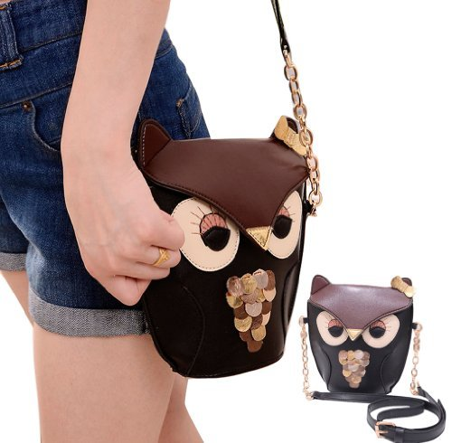 Gaorui Owl Satchel Messenger Women Shoulder Bag Cute Girls Handbag Cross Body Purse Bag
