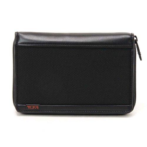 (トゥミ)TUMI 019278D Alpha SLGS Zip Around Multiple Passport Wallet/ジップ アラウンド マルティプル パスポート ウォレット Black/ブラック [並行輸入品]