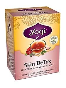 Yogi Skin DeTox Tea, 16 Tea Bags (Pack of 6)