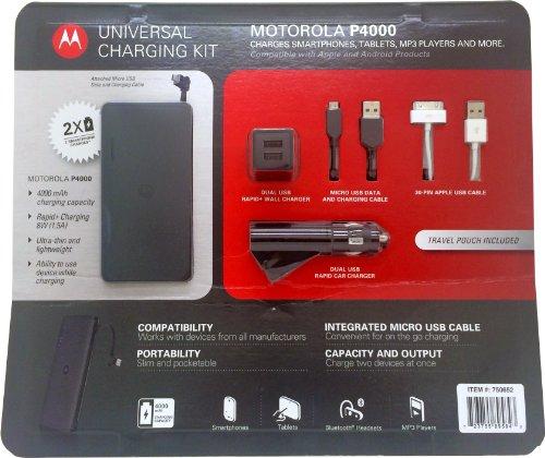 Motorola P4000 Universal Portable Power Pack - Retail Packaging - Black