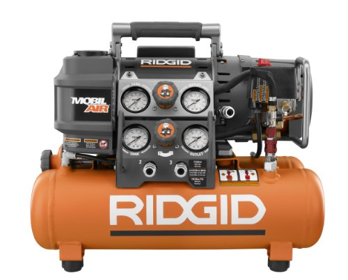 Factory-Reconditioned Ridgid ZROF50150TS 5 Gallon Oil-Free Portable Tri-Stack Air Compressor