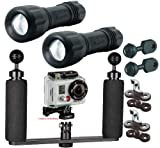 BigBlue Underwater 250 Lumen LED Light System Kit for GoPro Action Video Camera
