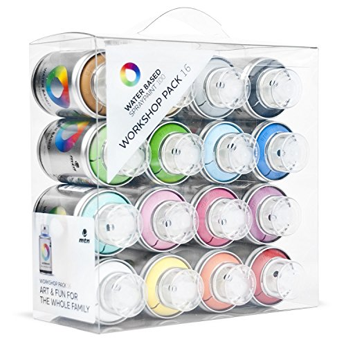 Montana MTN Water Based Spray Paint 16 Can Workshop Pack (Aerosol Spray Paint Pack compare prices)