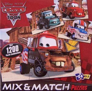 Disney Pixar Cars Mix 'n Match 24 pc Puzzle