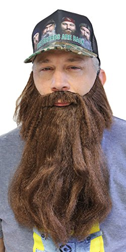 Extra Long Fake Brown Beard w/ Mustache (One Size Fits All)