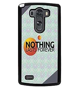 PRINTVISA Nothing Premium Metallic Insert Back Case Cover for LG G3 - D6028