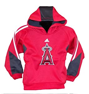 Adidas MLB Anaheim Angels Pullover Youth Red Hoodie by MLB Anaheim Angels