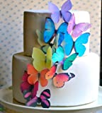 Edible Butterflies © -Large Rainbow Variety Set of 12 - Cake...
