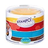 Aladine 85151 - Stampo Colors Harlekin, 4 Stempelkissen, türkis/braun/rot/gelb von Aladine