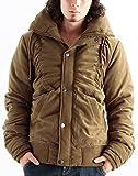 ボリュームネック中綿ジャケット ブルゾン シャーリング メンズ Lサイズ キャメル