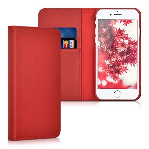 kalibri-Leder-Hlle-James-fr-Apple-iPhone-7-Echtleder-Schutzhlle-Wallet-Case-Style-mit-Karten-Fchern-in-Rot