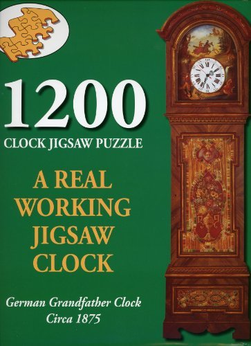 1200 Piece Clock Jigsaw Puzzle - German Grandfather Clock Circa 1875