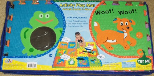 Picture of Verdes Toys Activity Play Mat Animal Sounds 'n Mirror Foam Puzzle Animals (B004QSNXVA) (Floor Puzzles)
