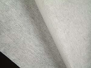 Vlieseline, Bügelvlies, Bügeleinlage, 50 g/m² (mittel), für mittelschwere bis schwere Stoffe, einseitig haftend, mit doppelt gepunktetem Kleber für bessere Haftung, Breite: 90 cm, 1 laufender Meter, weiß