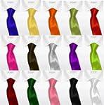 Skinny Slim Mens Solid Plain Necktie...
