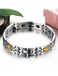 OPK-New Fashion Jewelry Healthy Care Stainless Steel Bracelets New Couple Stainless Steel Bracelet Gold Carbon...