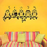 StickersKart Wall Stickers Funny Owls Emoticons (Wall Covering Area: 100cm x 50cm)