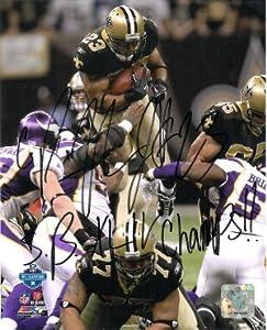 Pierre Thomas signed New Orleans Saints 8x10 Photo SB XLIV Champs (NFC Championship... by Athlon Sports Collectibles