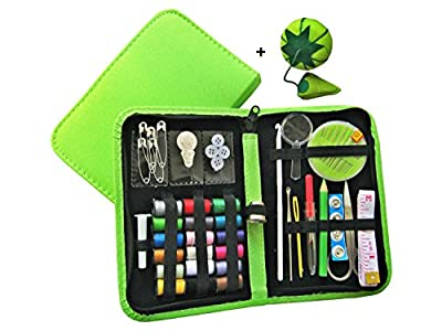 Memorial Day Sale!!! Best Sewing Kit for Travel,Home & Emergency - Compact Sewing Kit and Premium Sewing Supplies for Kids, Girls & Adults,Beginners - Best Sewing Kit for Emergency Preparedness,College Dorms,Camping - Premium Quality Case & Sewing Accesso