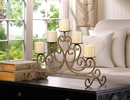 VERDUGO GIFT Antiqued Iron 5-Candle Stand (Iron Stand Table compare prices)