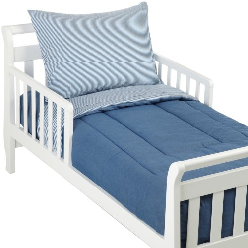 American Baby Company 1440 CH Percale Toddler Bed Set, 4-Piece, Chambray