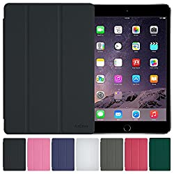 AirCase Smart Hard Back Shell Case Cover with foldable stand for Apple iPad Mini [BLACK]