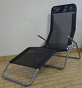 Fauteuil chaise longue transat a bascule dolcevita d350 anthracite jardin - Chaise longue en anglais ...