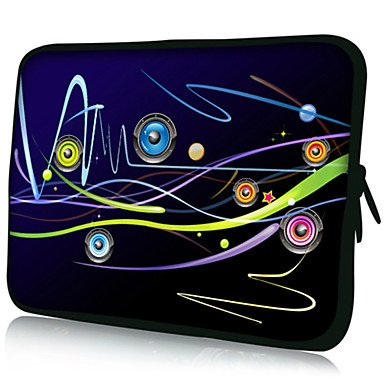 """Zcl """"Music Line""""Pattern Nylon Material Waterproof Sleeve Case For 11""""/13""""/15"""" Laptop&Tablet , 11"""""""
