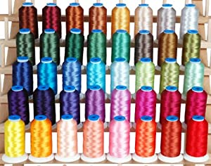 Amazon Polyester Embroidery Thread Set  40 Large