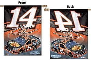 NASCAR #14 Tony Stewart House Flag 2014 Vertical Banner 27x37 Bass Pro Shop Racing by WinCraft