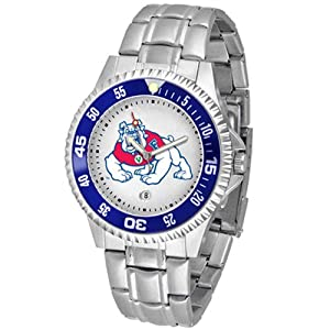 Fresno State Bulldogs NCAA Competitor Mens Watch (Metal Band) by SunTime
