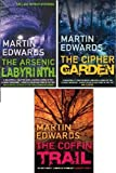 MARIN EDWARDS THE COFFIN TRAIL __ THE CIPHER GARDEN __ THE ARSENIC LABYRINTH __ THREE BOOK SET COLLECTION __ MARTIN EDWARDS