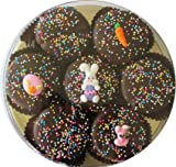 Dark Chocolate Dipped Oreo Cookies with Easter Chicks and Eggs Easter Eggs, Easter Bunny Gift