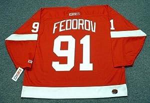 SERGEI FEDOROV Detroit Red Wings 2002 CCM Throwback Away NHL Hockey Jersey, MEDIUM