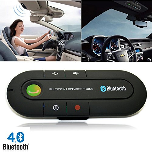 Portable Multipoint Wireless Hands-Free Bluetooth Sun Visor In-Car Speakerphone Car KitBlackCar Kit Visor Multipoint Wireless Bluetooth Handsfree Speakerphone Speaker Auto (Auto Bluetooth Kit compare prices)