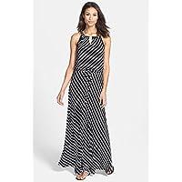 カルバンクライン Calvin Klein Stripe Keyhole Detail Maxi Dress 女性 レディース ドレス パーティー 並行輸入